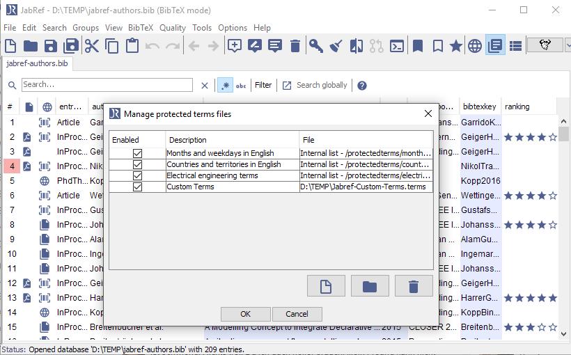 image: Screenshot JabRef 3.6